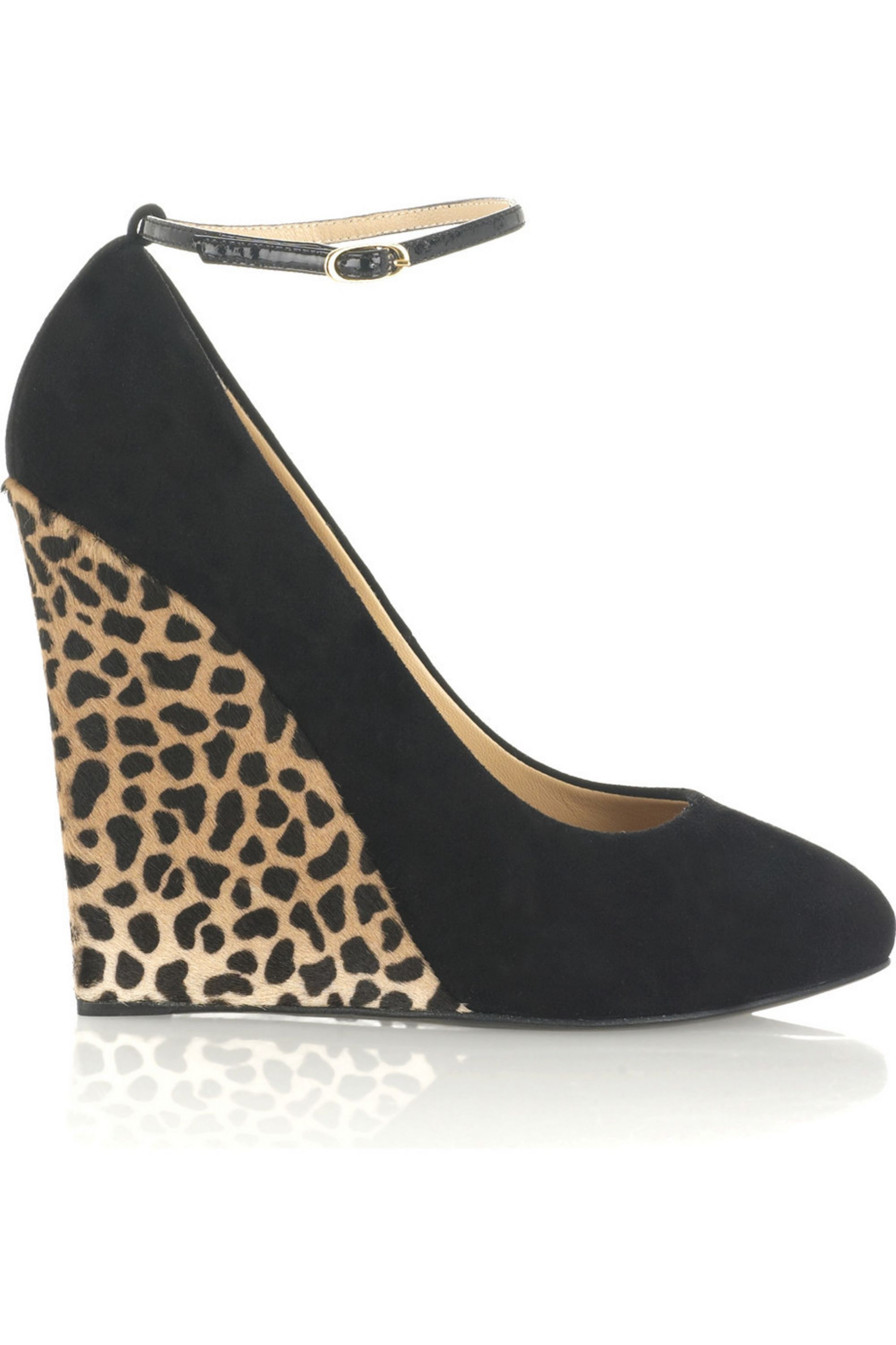 Giuseppe Zanotti Suede leopard-print wedges
