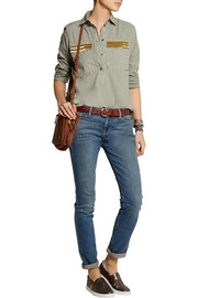 J.Crew Beaded cotton shirt