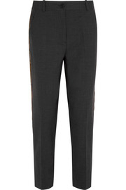Ludlow sequin-paneled stretch-wool straight-leg pants