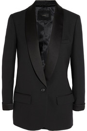 J.Crew Collection satin-trimmed wool-piqué tuxedo blazer