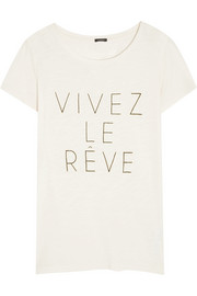 Vivez Le Rêve cotton and modal-blend T-shirt