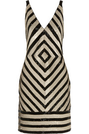 J.Crew Collection Chevron embellished crepe dress
