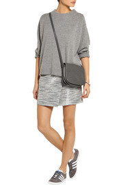 J.Crew Origami wrap-effect metallic tweed mini skirt