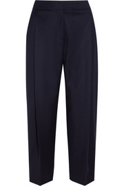 Collection cropped wool wide-leg pants