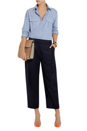 J.Crew Collection cropped wool wide-leg pants