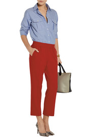 J.Crew Cropped flannel straight-leg pants