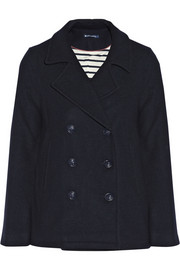 Petit Bateau Double-breasted wool-blend peacoat