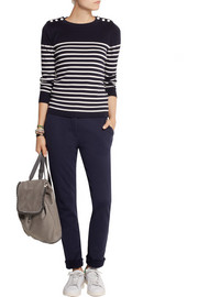 Petit Bateau Cotton-jersey tapered pants