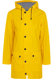 Petit Bateau Hooded coated-shell rain jacket