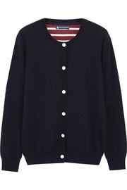 Petit Bateau Contrast-back wool and cotton-blend cardigan