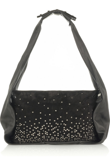 Halston | Allen medium studded satchel | NET-A-PORTER.COM from net-a-porter.com