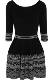 Maje Kessel intarsia stretch-knit mini dress