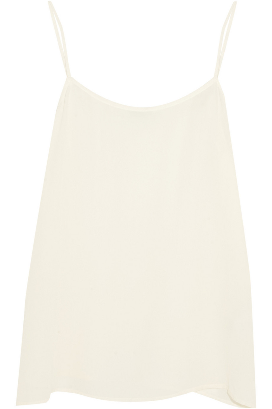 Equipment Cara Washed-Silk Camisole, White, Women's