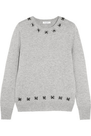 Equipment Shane embellished wool and cashmere-blend sweater