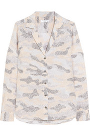 Adalyn printed washed-silk shirt