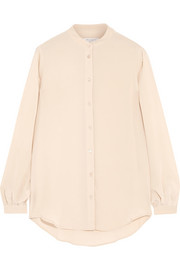 Henri washed-silk shirt