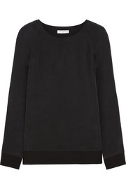 Dax washed-silk sweatshirt