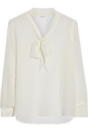 Equipment Penelope pussy-bow silk-georgette blouse