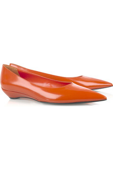 Jil SanderPointed spazzalato leather flats
