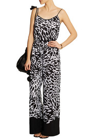 MICHAEL Michael Kors Animal-print crepe jumpsuit