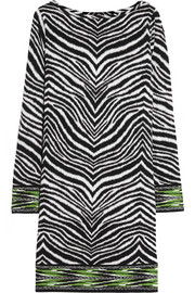MICHAEL Michael Kors Zebra-print stretch-jersey dress