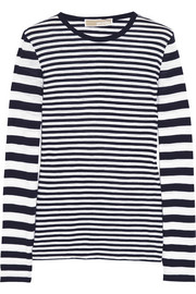 MICHAEL Michael Kors Striped cotton top