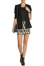 GENETIC X Liberty Ross Metallic jacquard mini skirt