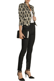 GENETIC X Liberty Ross Metallic jacquard blazer