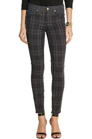GENETIC X Liberty Ross Plaid mid-rise skinny jeans