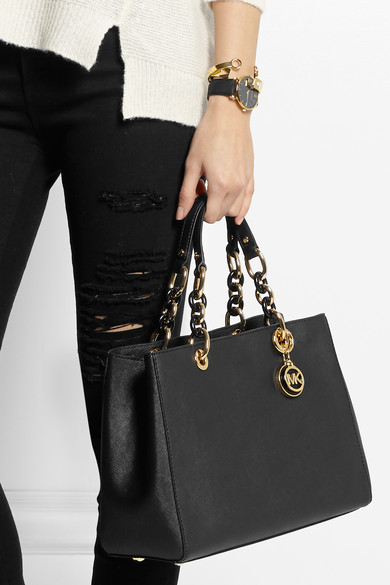 acc27c02521c ... MICHAEL Michael Kors Cynthia medium textured-leather tote ...