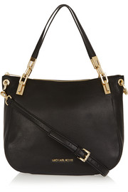 Brooke large textured-leather shoulder bag