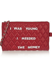 + Mua Mua embellished quilted leather clutch