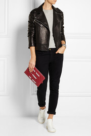 Finds + Mua Mua embellished quilted leather clutch