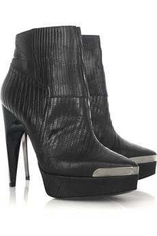 Lanvin Lizard platform ankle boots