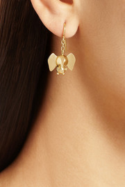 Natasha Zinko 18-karat gold elephant earrings