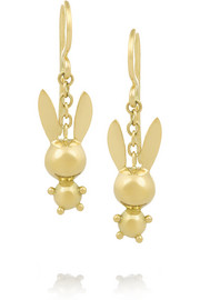 Natasha Zinko 18-karat gold bunny earrings