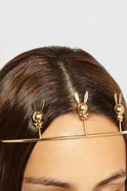 Natasha Zinko 18-karat gold rabbit headband