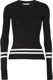 Dion Lee Striped ribbed-knit sweater