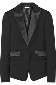 Dion Lee Satin-trimmed wool blazer