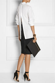 Dion Lee Split-side cotton-poplin shirt