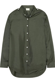 Band of Outsiders Silk-satin twill shirt