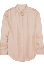 Silk-satin twill shirt
