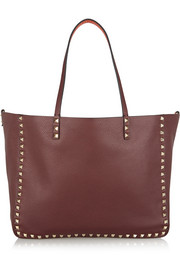 Valentino The Rockstud medium reversible textured-leather tote