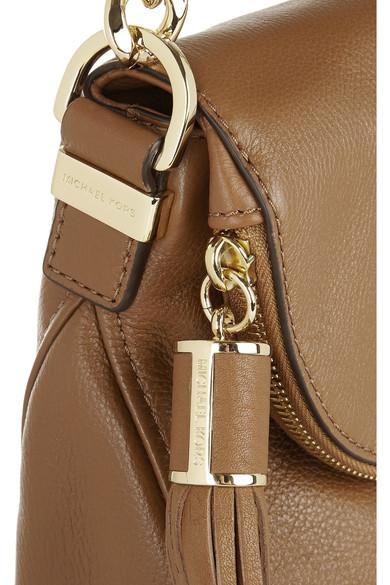 michael michael kors bedford leather shoulder bag net a porter