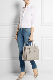 Dillon large textured-leather tote