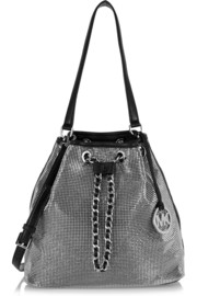 Frankie Mesh leather and chainmail shoulder bag