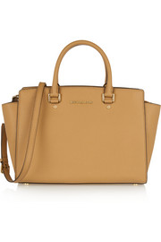 MICHAEL Michael Kors Selma large textured-leather tote