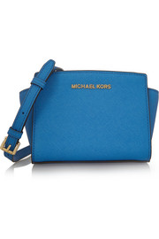 MICHAEL Michael Kors Selma mini textured-leather shoulder bag