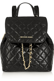 Susannah quilted leather backpack