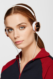 Layla leather and rose gold-tone headphones